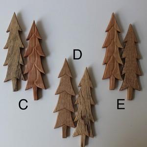 木の壁掛けオブジェ 2つセット