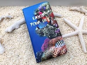 LIFE is ENJOY YOUR LIFE手帳型スマホケース iPhone5~8、Android(S,M)用 送料無料!