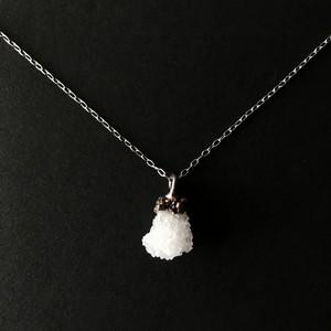 ミニクラスター水晶ネックレス