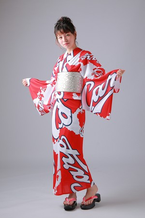 2020カープ浴衣 nishiki(小紋柄) レディースS~L 背番号なし ポリエステル100% 仕立て上がり