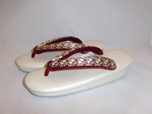 古布小花鼻緒ぞうり(Lサイズ) Japanese shoes(No5)