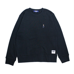 【GIMME FIVE】KUSH BEAR CREW NECK SWEAT(BLACK)