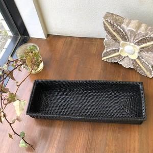 アタ お箸ケース 蓋なし ブラック TR7