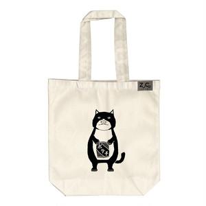 【トートバッグ】ネコおっさん ポテチ