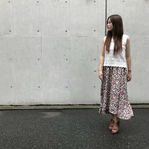 HERENCIA/花柄フィッシュテールスカート