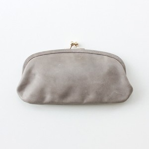 StitchandSew 蝋引きがま口ウォレット Charcoal Gray