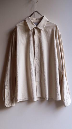 YAECAヤエカ コンフォートシャツ リラックススクエア BEIGE #69104 WOMEN