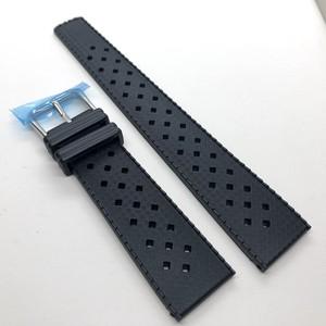 ヴィンテージ トロピック2.0 TPU 復刻ラバーベルト ブラック 20/22mm 腕時計ベルト