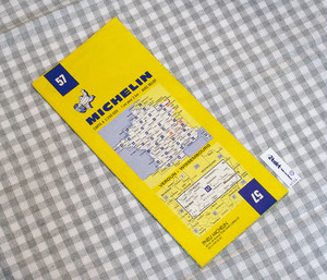【Vintage/Used品】1983 MICHELIN MAP No.57 フランス北東部 VERDUN-WISSEMBOURG /0106