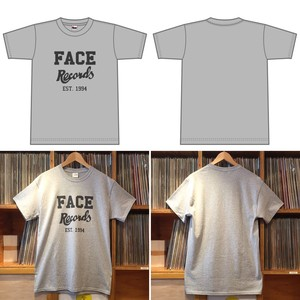 FACE RECORDS TEE / GRAY × DARK GRAY