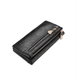 Wallet Long Clutch Zipper Wallet Capacity Purse Bag Pocket ロング 財布 パスケース 大容量 (RO99-8537479)