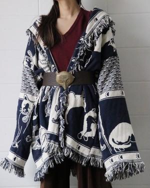 Cat fringe gown