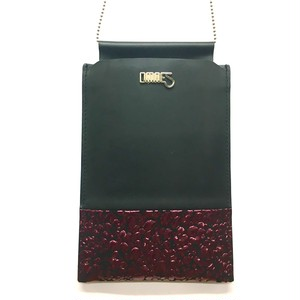 Multi PhonePochette【WaterDrop】Wine×Black