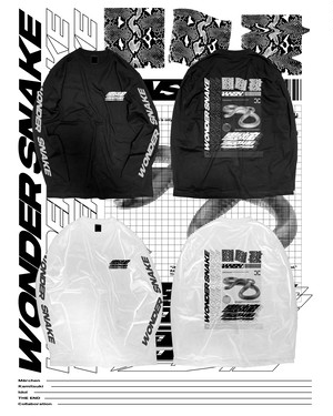 "THE END × WONDESNAKE Collaboration  ""SNAKE MODE"" L/S T-SHIRT"