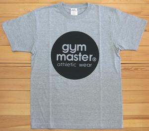 gym master ジムマスター サークルロゴTee Tシャツ グレー×オリーブ サークル ロゴ フロッキー カットソー 半袖 G799301