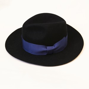 CENTER CREASE FELT HAT (BLACK) / GAVIAL