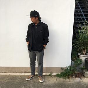 BIG MIKE オックスフォードBDシャツ BLACK