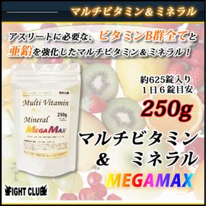 マルチビタミン&ミネラル MEGAMAX(625錠)