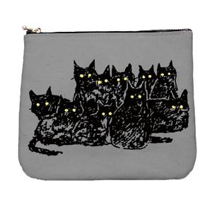 ハロウィン 猫目発光 ポーチ