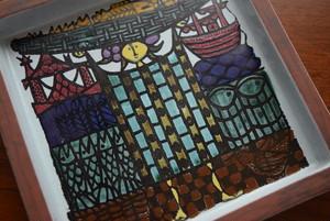 【送料無料】グスタフスベリカーニバル(スティグ・リンドベリ)スクエアプレート【GUSTAVSBERG/Karneval】北欧 食器・雑貨 ヴィンテージ | ALKU