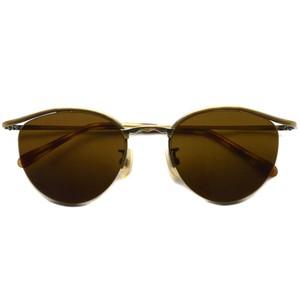 BOSTON CLUB ボストンクラブ / BART Sun / 04 Antique Gold - Dark Brown Lenses アンティークゴールド-ダークブラウンレンズサングラス