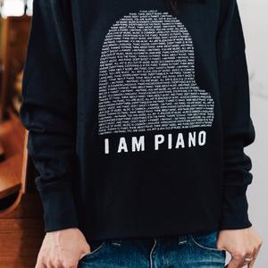 2色展開【スウェット】オリジナルデザイン「I AM PIANO」