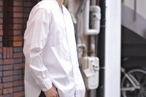 【Phlannèl】Evening Shirt (Men's) White