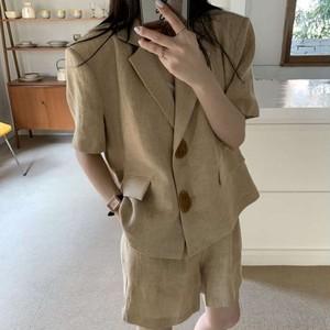 【送料無料】オシャンなセットアップ♡ジャケット ショートパンツ セットアップ 2点セット 高みえ お洒落 半袖ジャケット