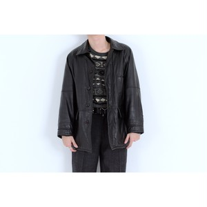 lam leather 3pocket jacket