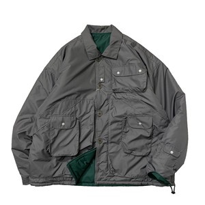 NOROLL / TWO FACE JACKET -GREY x GREEN-