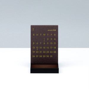 'CLARA' Desk Calendar 2020 Brown