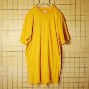 70s 80s USA製 Stedman 無地 半袖 Tシャツ イエロー 黄色 メンズL プレーン 古着 051320ss42