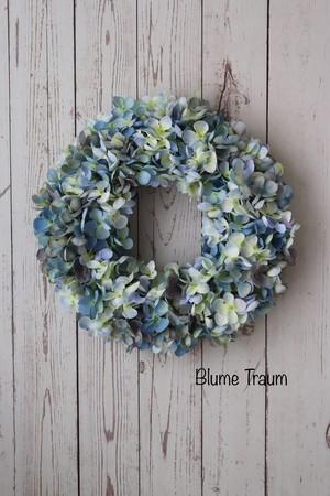 ★Blume Traum ★ブルー紫陽花のリース
