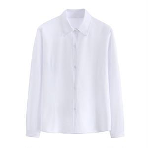 女子スクールシャツ 長袖 制服シャツ ワイシャツ 白シャツ 大きいサイズ レディースシャツ 女子高生 JK ブラウス トップス 9201