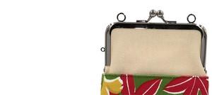 帆布×インクジェットプリント・ショルダーポーチ・紅葉・日本製