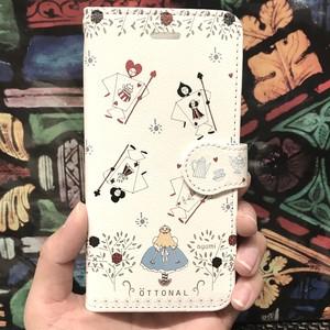(iPhone)アリス 手帳型スマホケース