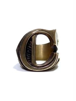 alphabet ring#C (Brass ・ 真鍮) -アルファベットモチーフ リングC-