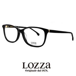 lozza メガネ vl4041m 0700 眼鏡 ロッツァ ウェリントン 黒ぶち 黒縁 イタリア製