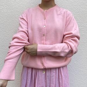 VINTAGE coral pink plain cardigan