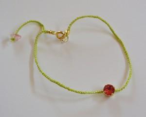 絹糸のミサンガブレス ミモザと椿