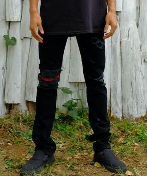 "VIRGOwearworks / ヴァルゴウエアワークス | "" MALCOLM "" 女神織DENIMES by VIRGOwearworks - black"