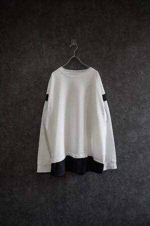 ℃℃℃ MONOQLO long sleeve tee Black
