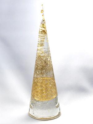 円錐型オルゴナイト【天然水晶】