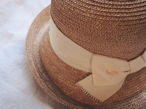 70's Japan? Straw hat with ribbon