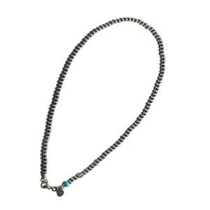 直径4mm全長45cm LFC Silver chain & ターコイズ Sleeping Beauty シルバービーズ
