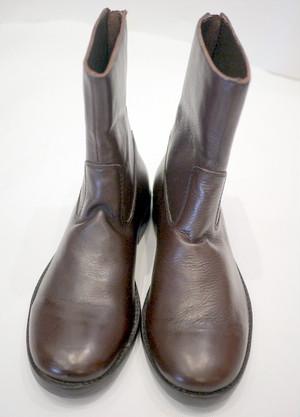 Bangladesh shoes BACK ZIP ダークブラウン
