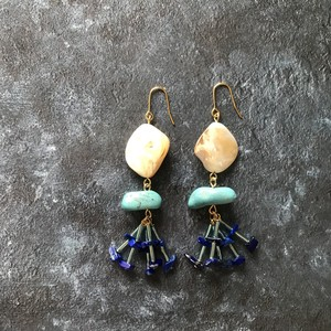 pierce or earring / MIX-blue
