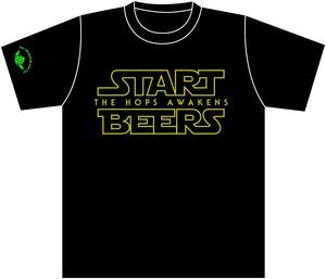 START BEERS Tシャツ ブラック〔両面〕【半袖】