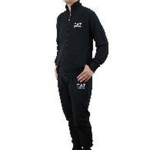 イーエーセブン (EA7) メンズ トラックジャケット セットアップ 3YPV54 PJ05Z 1200 BLACK ブラック (エンポリオ アルマーニ スポーツライン) サイズ(#L)