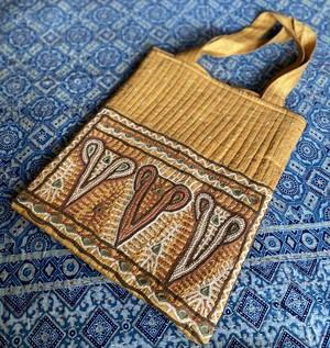 Rabari刺繍 シルクトートバッグ